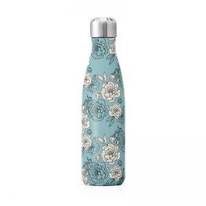 bouteille isotherme thermos motif pivoines fleurs cadeau à acheter Label Tour