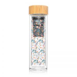Achat bouteille infuseur thé nomade motif liberty cadeau à acheter Label Tour