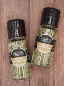 sel aromatisé spécial pomme de terre muscade poivre ail sel de camargue aromates