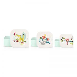 Achat boîtes à goûter enfants motif léopard cadeau à acheter Label Tour Zabeil