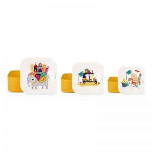 Achat boîtes à goûter enfants motif Inde cadeau à acheter Label Tour Zabeil