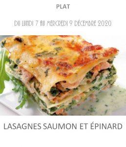 lasagnes saumon épinard traiteur à emporter