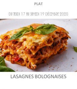 lasagne bolognaise traiteur à emporter