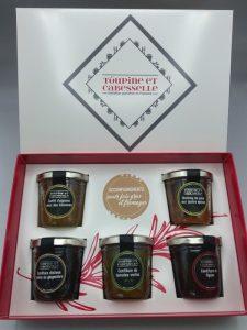 coffret cadeau foie gras fromages confitures
