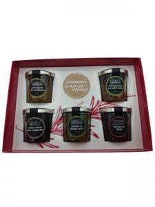 coffret cadeau foie gras fromages confitures chutney