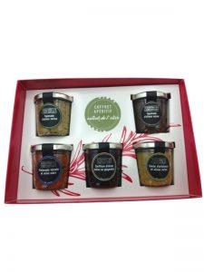 coffret cadeau apéritif olive tapenade