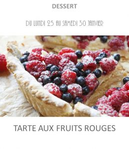 tarte fruits rouges traiteur à emporter avignon barbentane saint rémy provence