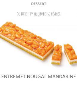 entremet nougat mandarine traiteur à emporter avignon barbentane saint rémy provence