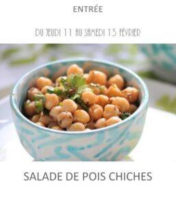 salade pois chiches traiteur plat à emporter avignon barbentane st rémy provence