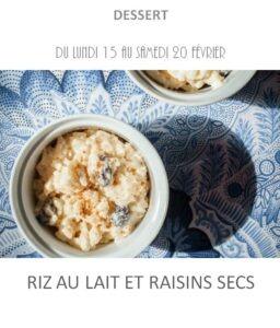 riz au lait raisin traiteur plat à emporter avignon barbentane st rémy provence