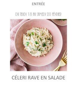 céleri rave salade traiteur plat à emporter avignon barbentane st rémy provence