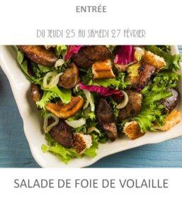 salade foie de volaille traiteur plat à emporter avignon barbentane st rémy provence