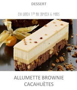 allumette brownie cacahuète traiteur plat à emporter avignon barbentane st rémy provence