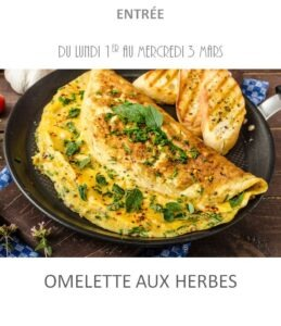 omelette herbes traiteur plat à emporter avignon barbentane st rémy provence