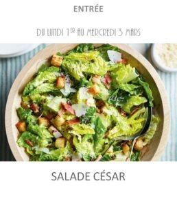 salade césar traiteur plat à emporter avignon barbentane st rémy provence
