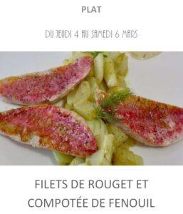 filet de rouget fenouil traiteur plat à emporter avignon barbentane st rémy provence
