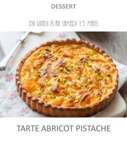 tarte abricot pistache traiteur plat à emporter avignon barbentane st rémy provence