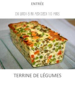 terrine de légumes traiteur plat à emporter avignon barbentane st rémy provence