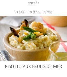risotto fruits de mer traiteur plat à emporter avignon barbentane st rémy provence