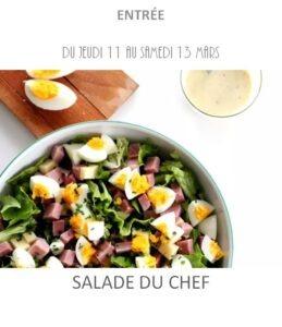 salade du chef traiteur plat à emporter avignon barbentane st rémy provence