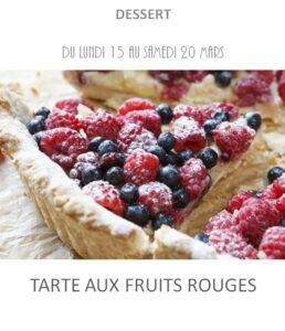 tarte aux fruits rouges traiteur plat à emporter avignon barbentane st rémy provence