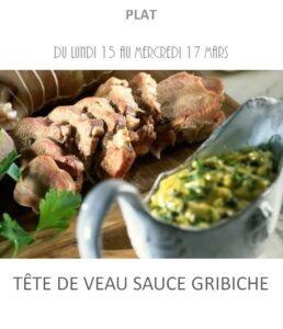 tête de veau sauce gribiche traiteur plat à emporter avignon barbentane st rémy provence