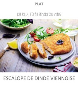 escalope de dinde viennoise traiteur plat à emporter avignon barbentane st rémy provence