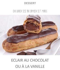 éclair au chocolat vanille traiteur plat à emporter avignon barbentane st rémy provence