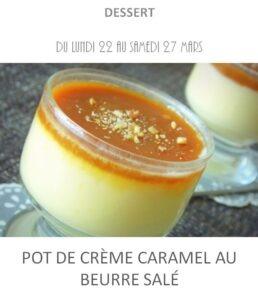 crème caramel beurre salé traiteur plat à emporter avignon barbentane st rémy provence