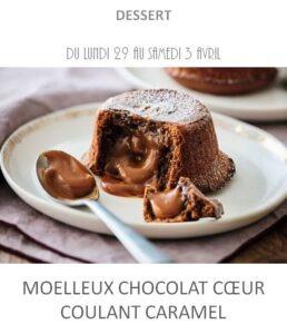 moelleux chocolat traiteur plat à emporter avignon barbentane st rémy