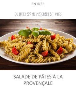 salade de pâtes à la provençale traiteur plat à emporter avignon barbentane st rémy provence