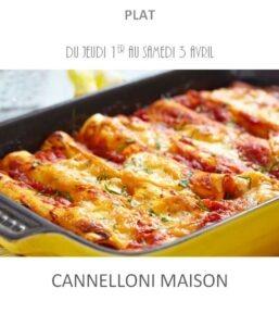 cannelloni traiteur plat à emporter avignon barbentane st rémy provence