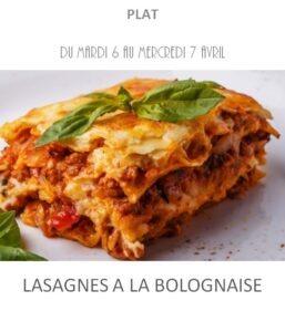 achat vente lasagne bolognaise traiteur plat à emporter avignon barbentane st rémy provence
