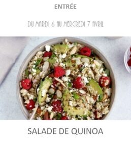 achat vente salade quinoa traiteur plat à emporter barbentane avignon st rémy provence