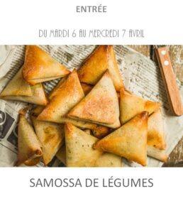 achat vente samossa légumes traiteur plats à emporter avignon barbentane st rémy provence
