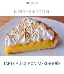 achat vente tarte citron meringuée traiteur à emporter avignon barbentane st rémy provence