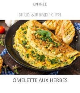 achat vente omelette aux herbes traiteur à emporter avignon barbentane st rémy provence