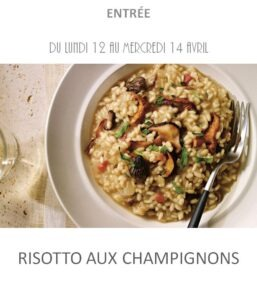 achat vente risotto champignons traiteur à emporter avignon barbentane st rémy provence