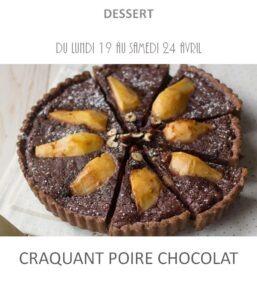 achat vente craquant poire chocolat traiteur plat à emporter avignon barbentane st rémy provence