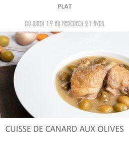 achat vente cuisse canard olives traiteur plat à emporter avignon barbentane st rémy provence