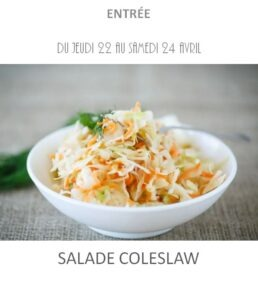achat vente salade coleslaw traiteur plat à emporter avignon barbentane st rémy provence