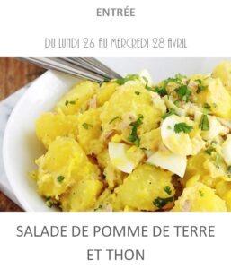 achat vente salade pomme de terre et thon traiteur plat à emporter avignon barbentane st rémy provence