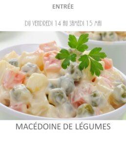 achat vente macédoine légumes traiteur plat à emporter avignon barbentane saint rémy provence