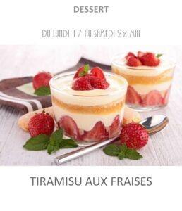achat vente tiramisu aux fraises traiteur plat à emporter avignon barbentane saint rémy provence
