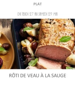 achat vente rôti veau sauge traiteur plat à emporter avignon barbentane saint rémy provence