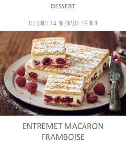 achat vente entremet macaron framboise traiteur plat à emporter avignon barbentane saint rémy provence