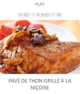achat vente pavé de thon à la niçoise traiteur plat à emporter avignon barbentane saint rémy provence