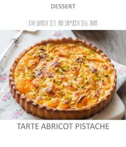 achat vente tarte abricot pistache traiteur plat à emporter avignon barbentane saint rémy provence