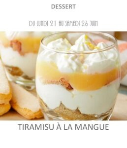 achat vente tiramisu mangue traiteur plat à emporter avignon barbentane saint rémy provence