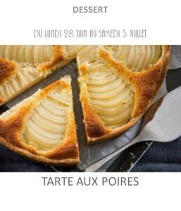 achat vente tarte poire traiteur plat à emporter avignon barbentane saint rémy provence